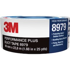 "3M 8979 Performance Plus Duct Tape - 2"" Width x 75 ft Length - 3"" Core - Polyethylene, Rubber - Polyethylene Coated Cloth Backing - Residue-free - 1 / Roll - Slate Blue"