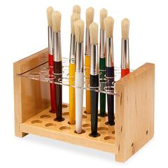 ChenilleKraft Creativity street Brush Holder - Wood, Acrylic - 1 Each - Clear