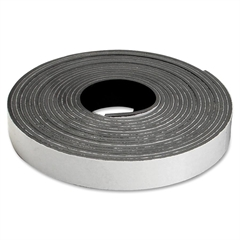 "Baumgartens Self-cutting Magnetic Tape Roll Refill - 0.50"" Width x 15 ft Length - 1 / Roll - Black"