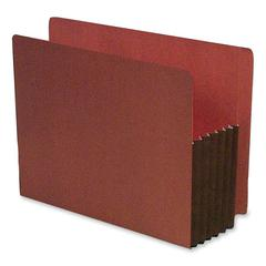 "SJ Paper Expanding Red Rope File Pocket - Letter - 8 1/2"" x 11"" Sheet Size - 5 1/4"" Expansion - Top Tab Location - 11 pt. Folder Thickness - Redrope - Red - Recycled - 10 / Box"