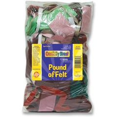 ChenilleKraft Felt Assorted Remnants Pound Bag - Craft - 1 / Pack - Assorted