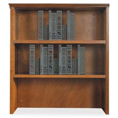 "Lorell Contemporary 9000 Bookcase Hutch for Lateral File - 33"" x 16"" x 36.5"" - 2 Shelve(s) - Material: Hardwood - Finish: Cherry, Veneer"