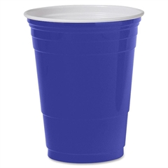 Solo Plastic Party Cup - 16 oz - 50 / Pack - Blue - Polystyrene - Cold Drink