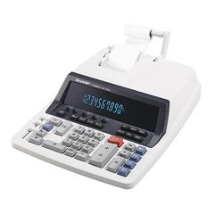 "Sharp QS1760H Commercial Printing Calculator - Dual Color Print - 4.8 lps - 10 Digits - Fluorescent - Power Adapter Powered - 3"" x 10"" x 13.3"" - Light Gray - 1 Each"