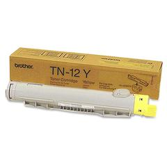 Brother 12Y Yellow Toner Cartridge - Laser - 6000 Page - 1 Each