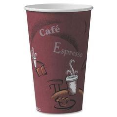 Solo Hot Cup - 16 fl oz - 300 / Carton - Maroon - Paper - Hot Drink