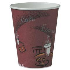 Solo Hot Cup - 8 fl oz - 500 / Carton - Maroon - Paper - Hot Drink