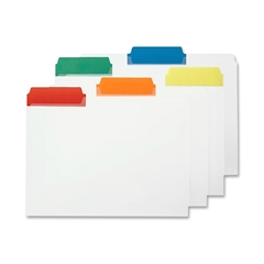 """Poly Color Coded File Folder - Letter - 8 1/2"""" x 11"""" Sheet Size - 1/3 Tab Cut - Assorted Position Tab Location - Polypropylene - Blue, Green, Orange, Red, Yellow - 25 / Box"""