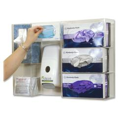 "Deluxe Professional Protection Station - 16.7"" Height x 23.8"" Width x 4.8"" Depth - Wall Mountable - Clear - Acrylic - 1Each"