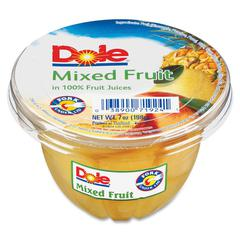 Dole Mixed Fruit Cups - Mixed Fruit - 7 oz - 12 / Carton