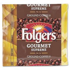 Folgers Gourmet Supreme Ground Coffee Ground - Regular - Dark/Bold - 1.8 oz - 42 / Carton