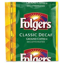Folgers Classic Roast Coffee - Decaffeinated - 1.5 oz - 42 / Carton