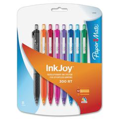 Paper Mate 300RT Effortless Glide Ballpoint Pen - Medium Point Type - Assorted - 8 / Pack