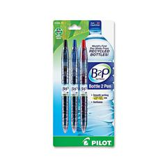 Gel Pen - Fine Point Type - 0.7 mm Point Size - Refillable - Assorted Gel-based Ink - Plastic Barrel - 3 / Pack