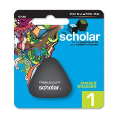 Scholar Pencil Eraser - Lead Pencil Eraser - PVC-free, Latex-free - Rubber - 1/Pack - Black