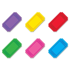 "Trend Classic Accents Mini Winning Tickets Pack - Precut - 3"" Length - Multicolor - 72 / Set"