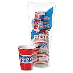 Dart Cup - 18 oz - 288 / Carton - Red - Plastic - Party