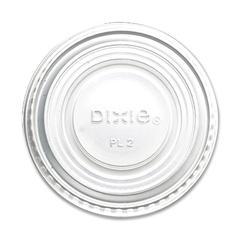 Dixie Souffle Cup Lids - Round - Plastic - 2400 / CartonTranslucent