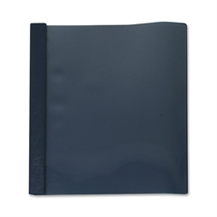 "Business Source Report Cover - 1/2"" Folder Capacity - Letter - 8 1/2"" x 11"" Sheet Size - 100 Sheet Capacity - 3 x Prong Fastener(s) - Clear, Dark Blue - 25 / Box"