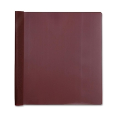 """Business Source Report Cover - 1/2"""" Folder Capacity - Letter - 8 1/2"""" x 11"""" Sheet Size - 100 Sheet Capacity - 3 x Prong Fastener(s) - Burgundy - 25 / Box"""