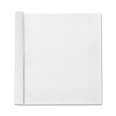 "Business Source Report Cover - 1/2"" Folder Capacity - Letter - 8 1/2"" x 11"" Sheet Size - 100 Sheet Capacity - 3 x Prong Fastener(s) - White - 25 / Box"