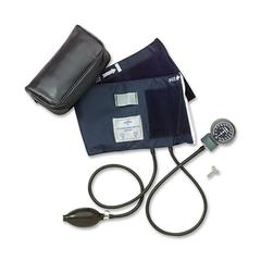 Adult Handheld Aneroid Sphygmomanometer - For Blood Pressure - Latex-free - Blue - Adult - Polyvinyl Chloride (PVC)