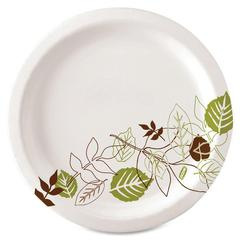 "Dixie Pathway Heavyweight Paper Plates - 10.13"" Diameter Plate - Paper - Microwave Safe - White - 500 Piece(s) / Carton"