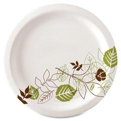 "Dixie Pathways Design Everyday Paper Plates - 125 / Pack - 8.50"" Diameter Plate - Paper - White - 500 Piece(s) / Carton"