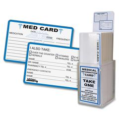 Tabbies Emergency Medical Alert Cards Display - 150 / Display Box