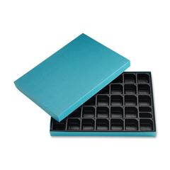 Ghent S-1 Message Board Letters Storage Box - Lift-off Closure - Cardboard - Blue - For Letter - 1 Each