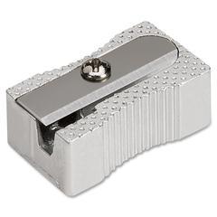 Integra Aluminum Pocket Pencil Sharpener - 1 Hole(s) - Aluminum - Silver