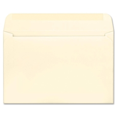 "Quality Park Greeting Card Envelope - Announcement - 5.75"" x 8.75"" - 24 lb - Gummed - Paper - 100 / Box - Ivory"