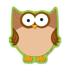 """Carson-Dellosa Full-color Owl Notepads - 50 Sheets - 5.75"""" x 6.25"""" - Multicolor Paper - Die-cut - 50 / Pack"""