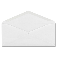 "Quality Park No. 10 Regular Business Envelopes - Business - #10 - 4.13"" Width x 9.50"" Length - 24 lb - Gummed - Wove - 100 / Box - White"