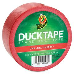 "Duck Colored Duct Tape - 1.88"" Width x 60 ft Length - 1 / Roll - Red"