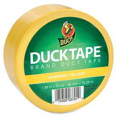 "Duck Colored Duct Tape - 1.88"" Width x 60 ft Length - 1 / Roll - Yellow"