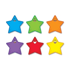 "Classic Accents Shape - 36 Smiley Star - Precut - 5.50"" Height - Assorted - 36 / Pack"