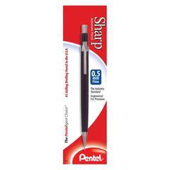 Pentel Sharp Mechanical Pencil - #2, HB Lead Degree (Hardness) - 0.5 mm Lead Diameter - Refillable - Black Lead - Black Barrel - 1 / Pack