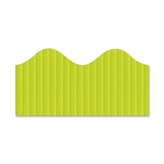 "Pacon Bordette Decorative Border - Fade Resistant - 2.25"" Width x 600"" Length - Lime - 1 / Roll"