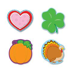 Carson-Dellosa Holiday Cut-Out Set - Die-cut - Multicolor - Card Stock - 4 / Pack