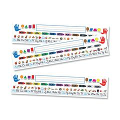"Carson-Dellosa Quick Stick Name Plate - Self-adhesive - Repositionable - 0.31"" Height x 4"" Width x 17.50"" Length - Multicolor - 30 / Pack"