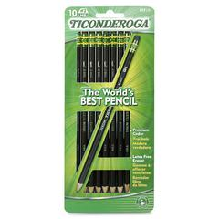 Ticonderoga No. 2 HB Pencils - #2 Lead - Graphite Lead - Black Wood Barrel - 10 / Pack