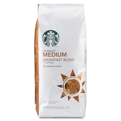Starbucks Coffee Ground - Regular - Breakfast Blend, Orange - Medium - 1 Each