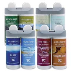 Rubbermaid 3486092 Microburst Duet Variety Pack (1 of ea. refill) - Oil - Cotton Berry, Refreshing Citrus, Ocean Breeze, Sea Mist, Alpine Sping, Mountain Peaks, Gentle Breeze, Linen Fresh - 180 Day -