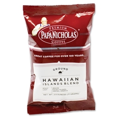 PapaNicholas Coffee Coffee Hawaiian Islands Blend - Regular - Arabica, Hawaiian Blend - Light/Mild - 2.5 oz Per Carton - 18 Packet - 18 / Carton