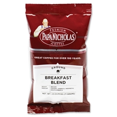 Breakfast Blend Coffee - Regular - Arabica, Breakfast Blend - Medium - 2.5 oz Per Carton - 18 Packet - 18 / Carton