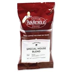 PapaNicholas Coffee Special House Blend Coffee - Regular - Arabica, Special House Blend - Light/Mild - 2.5 oz - 18 / Carton