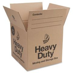 "Duck Brand Double-wall Construction Hvy-duty Boxes - External Dimensions: 16"" Width x 15"" Depth x 16"" Height - 42 lb - Heavy Duty - Brown - 6 / Pack"