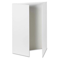 "Fold & Go Presentation Board - 36"" Height x 48"" Width - White Corrugated Fiberboard Surface - 6 / Carton"