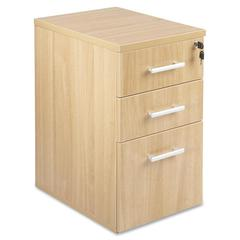 "Lorell Concordia Series Latte Laminate Desk Ensemble - 15.8"" x 21.9"" x 27"" - 3 x Box Drawer(s), File Drawer(s) - Finish: Laminate, Latte"